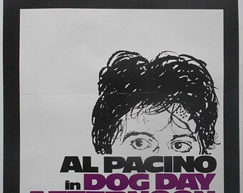 AL PACINO Dog Day Afternoon Very Rare Original 1980's Official U.K. VHS Video Rental Shop Advertising Poster