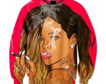 Bad Gal Rihanna Funny harajuku Sweatshirt Hoodie Hooded Jacket Pullover