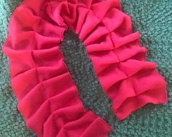 Child size ruffle scarf