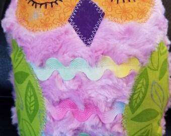 Soft plush owl / Stuffed Owl / Baby Shower Gift / Gift for Baby / Toddler Gift / Softie Owl / Pink Owl / Handmade Plushie / Handmade Owl