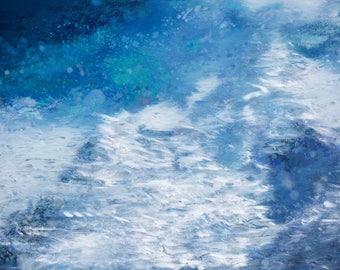Digital Painting/Abstract Painting/Underwater/Beach/Digital Print/Instant digital download