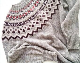Lopapeysa , Icelandic wool sweater , kid mohair sweater , knitwear, handmade sweater , woman's sweater