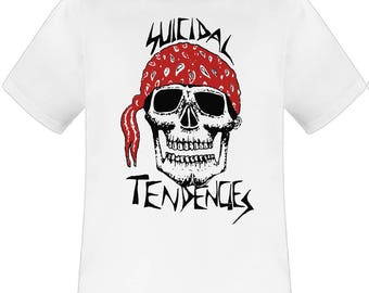 Suicidal Tendencies Bandana Skull white t shirt