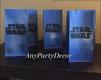 Star Wars themed Party Favor Bags - Star Wars bags (10 Count)