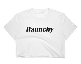 Raunchy White Women's Crop Top