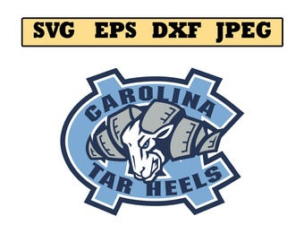 Unc tar heels SVG File - Vector Design in, Svg, Eps, Dxf, and Jpeg Format for Cricut and Silhouette, Digital download !!!!!!!!!!!!!!!!!!