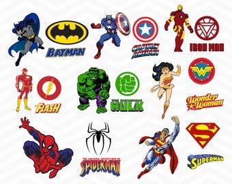 Superheroes SVG, Superhero eps, Superhero logo SVG, Superhero logo clipart, super hero svg, cameo files, svg files for cricut, vector