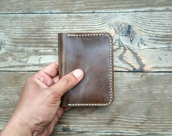 Wallet - Handmade Leather Wallet - Simple Compact Wallet - Card Wallet - Leather Wallet