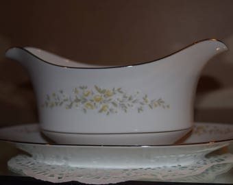 Gravy Boat with Attached Underplate  Carolyn by Crown Victoria