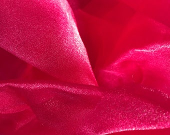 Hot pink fabric remnant