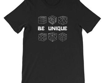 Be Unique Cube Short-Sleeve Unisex T-Shirt