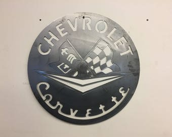 60s Corvette Steel wall sign