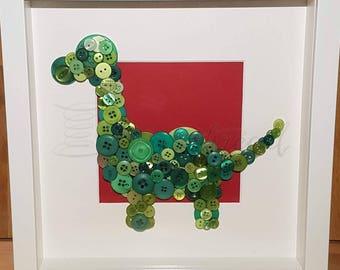 Button art Dino