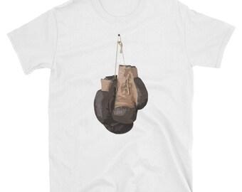 Vintage Boxing Gloves T- Shirt Kickboxing Gift Tee