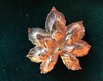 Vintage Sara Coventry Leaf Brooch