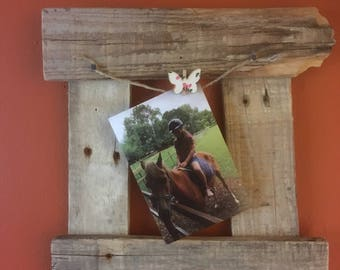 Rustic, Shabby Chic Picture Frame made from Reclaimed Wood