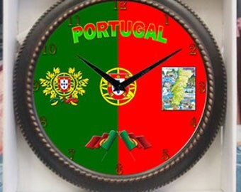Portugal Clock Decor wall Clock