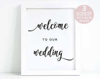 Welcome To Our Wedding Printable, Wedding Sign Printable PDF, Welcome Sign Instant Download, Welcome To Our Sign,DIY Welcome Sign Printable