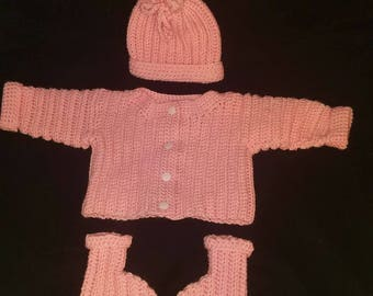 Sweet pink baby sweater