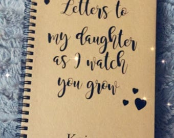 Personalised a5 notebook