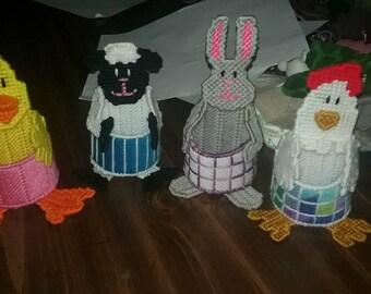 Plastic canvas Easter Set.