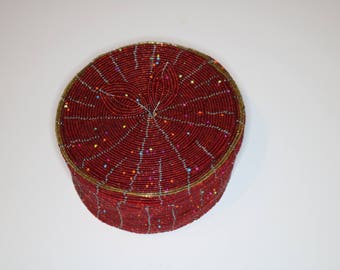 Beaded Coaster Set | Maasai beads