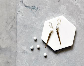 The Classic Earring // Marble