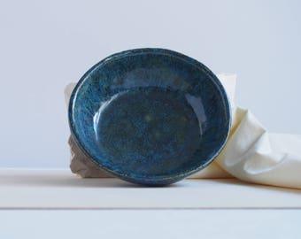Handmade ceramic bowl, small ceramic dish, blue bowl, handmade ceramic, artisan pottery bowl, decorative dish, home decor, for trinkets