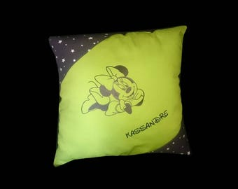 Custom name Minnie elongated cushion
