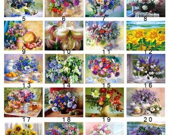 5D Diamond Mosaic Diy Diamond Embroidery Flower Square Paste Full Cross Stitch Kit Diy Diamond Painting