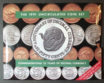 1991 Australia Mint Set. Only 25,00 Issued.