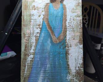 Angel in blue