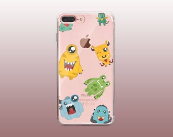 Monsters TPU Phone Case for iPhone 8- iPhone 8 Plus - iPhone X - iPhone 7 Plus-iPhone 7-iPhone 6-iPhone 6S-Samsung S8