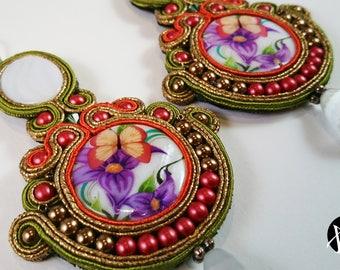 Spring Model-soutaches Earrings-soutaches Earrings-handmade Earrings-hand-made earrings-pendant earrings-ColoredEarring