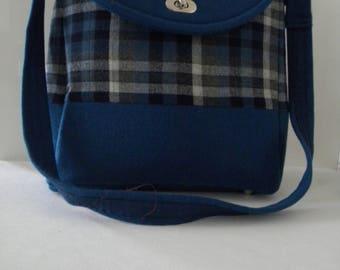 Handcrafted shoulder bag. Handmade purse.
