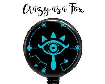 Legend Of Zelda  Breath of the Wild Sheikah Eye Retractable Badge Holder, Badge Reel, Lanyard, Stethoscope ID Tag, Nurse, MD, Student