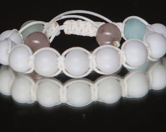 Unisex Bracelet White Jade