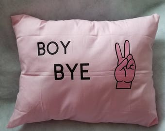 Boy Bye Pillow