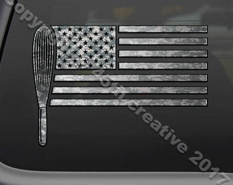 USA Baker Flag Decal Sticker - american flag baker window decal, bakery decal, baking sticker, america baking decal sticker, bakers decal