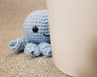 Crochet octopus,handmade octopus,amigurumi animal gifts,crochet sea creatures,crochet key chain animal