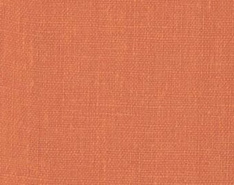 Burnt Orange Solid Linen Fabric / Textiles / Fabric by the Yard