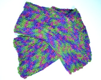 Oh Not So Perfect Green - Purple Scarf