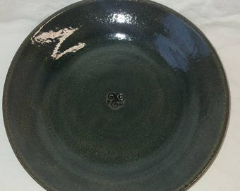 Emerald Pasta Bowls. Set of two.