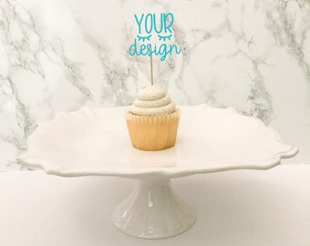 cupcake topper mock up blank cake, your design here, mock-up, styled photo, mockup, cupcake photo, jpeg instant download, svg display, party