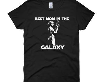 """Star Wars Mothers Day Gift T-Shirt, Gift For Mom, Star Wars Mother Gift """"Best Mom In The Galaxy"""" Star Wars Mom T-Shirt"""