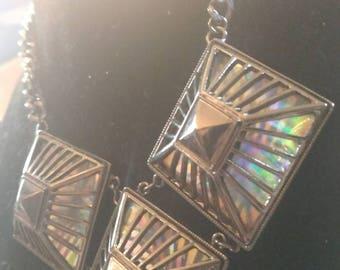Steampunk rainbow Gothic necklace