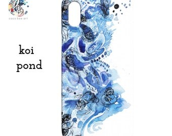 Watercolor Koi Pond Phone Case / iPhone or Samsung