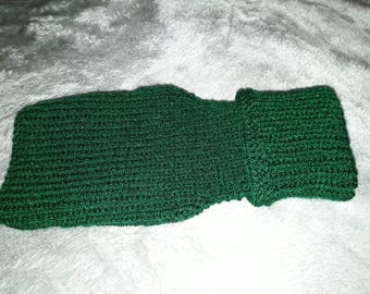 Hand Knitted Ribbed Dog Sweater