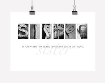Sister Gift - Inspirational Wall Art/Decor - Downloadable/Printable PDF
