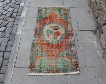 Unique handmade decorative door mat rug Free Shipping tukish rug 2. x 4.2 ft. organic wool rug aztec rug small area rug boho rug MB381